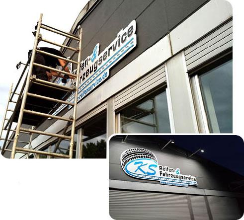 Logo Layout Planung Produktion Montage - KS Reifen - Primo Agentur